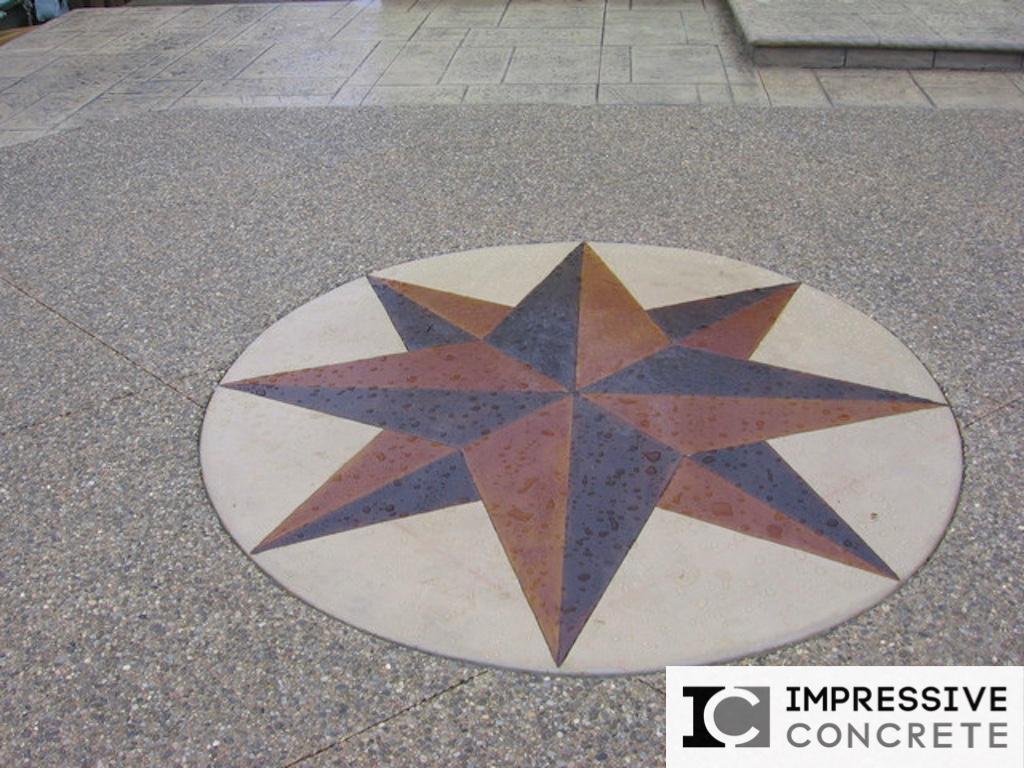Impressive Concrete - Concrete Designs Portfolio - 003 - Stamped Concrete Yorkstone Pattern
