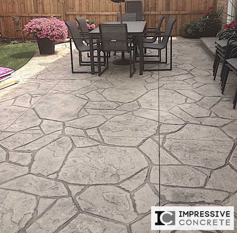 Impressive Concrete - Concrete Patios Portfolio - 003 - Stamped Concrete Arizona Flagstone Pattern Patio