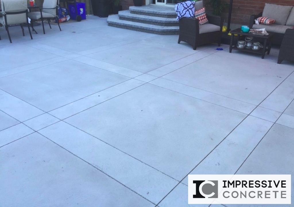 Impressive Concrete - Concrete Patios Portfolio - 005 - Regular Concrete, Sandblast and Smooth Finishes