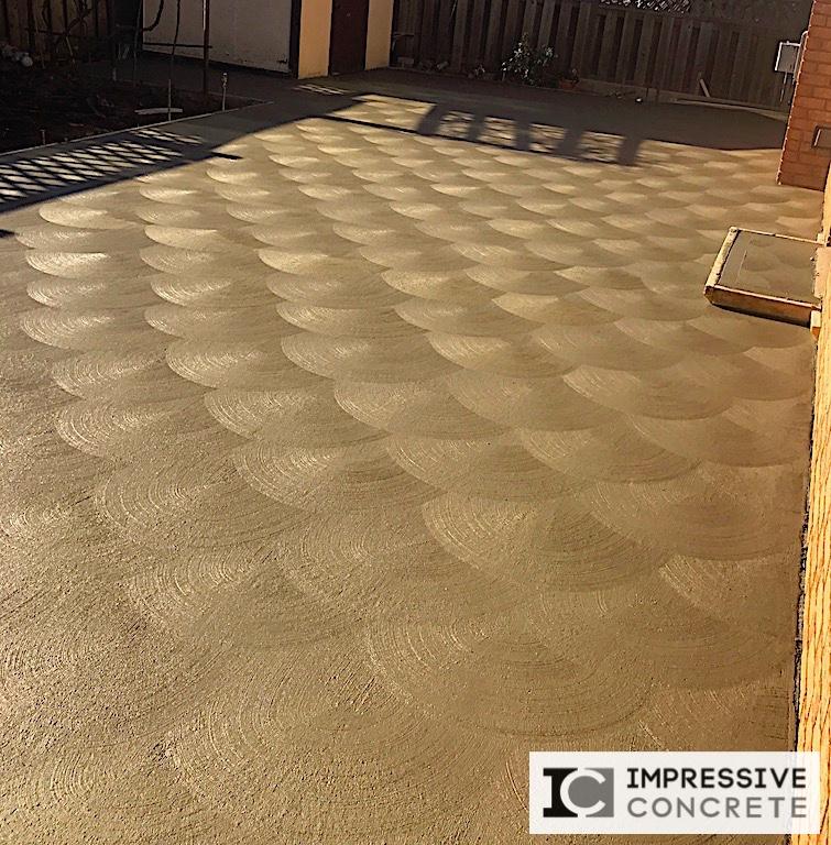 Impressive Concrete - Concrete Patios Portfolio - 015 - Regular Concrete, Spin Finish Concrete Patio