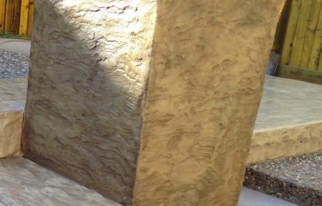 Impressive Concrete - Concrete Pillars Portfolio - 003 - Stamprd Concrete Pillar, Chisel Bullnose