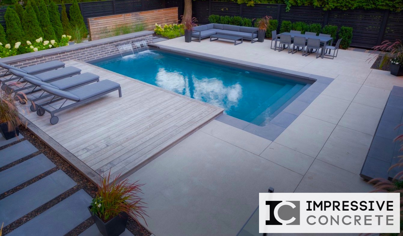 Concrete Pool Decks Photo Gallery Concrete Pool Decks 001  Impressive Concrete