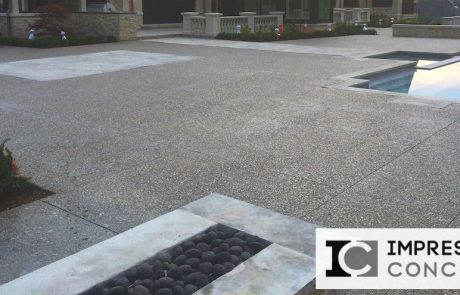 Impressive Concrete - Concrete Pool Decks Portfolio - 006 - Exposed Aggregate Concrete Pool Deck