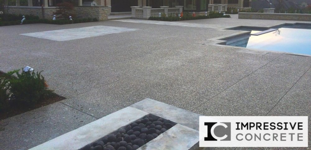 Impressive Concrete - Concrete Pool Decks Portfolio - 006 - Exposed Aggregate Concrete Pool Deck