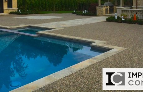 Impressive Concrete - Concrete Pool Decks Portfolio - 007 - Exposed Aggregate Concrete Pool Deck