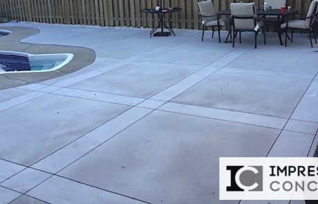 Impressive Concrete - Concrete Pool Decks Portfolio - 010 - Regular Concrete, Sandblast and Smooth Finishes Pool Deck