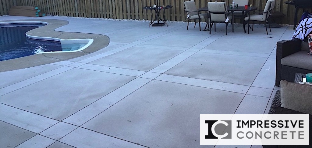 Impressive Concrete - Concrete Pool Decks Portfolio - 010 - Regular Concrete, Sandblast and Smooth Finishes Pool Deck