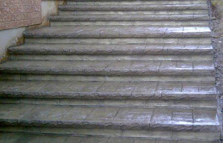 Impressive Concrete - Concrete Steps Portfolio - 005 - Stamped Concrete Yorkstone Pattern