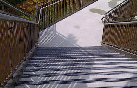 Impressive Concrete - Concrete Steps Portfolio - 007 - Regular Concrete Broom Finish Concrete Steps