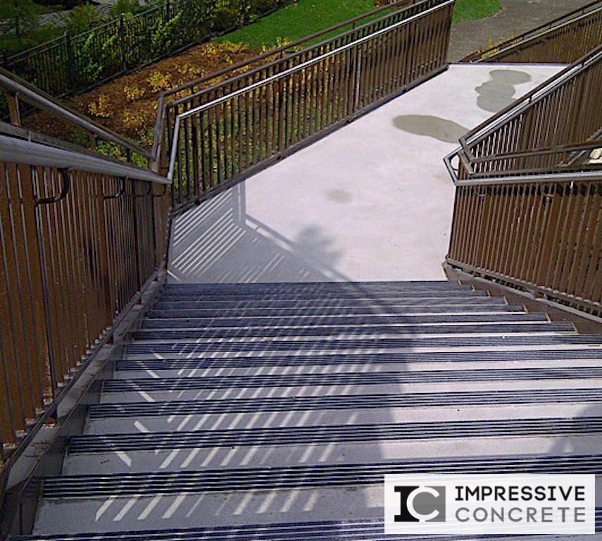 Impressive Concrete - Concrete Steps Portfolio - 007 - Regular Concrete Broom Finish Concrete Steps