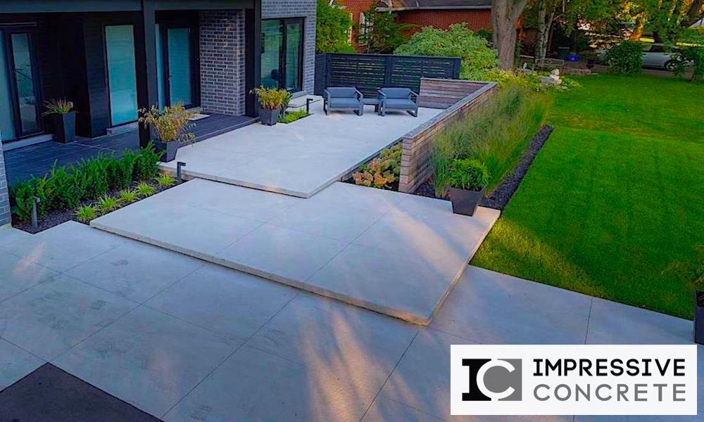 Impressive Concrete - Concrete Walkways Portfolio - 001 - Regular Concrete, Smooth Finishes Walkway