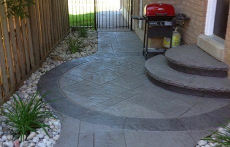Impressive Concrete - Concrete Walkways Portfolio - 005 - Stamped Concrete Yorkstone Pattern Two Color Walkway
