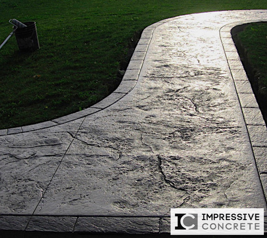 Impressive Concrete - Concrete Walkways Portfolio - 006 - Stamped Concrete Skins Pattern Two Color