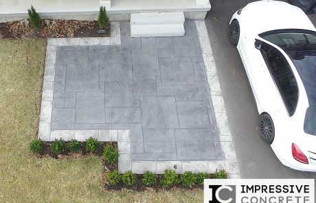 Impressive Concrete - Concrete Walkways Portfolio - 009 - Stamped Concrete Yorkstone Pattern, Two Colors, Walkway