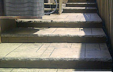 Impressive Concrete - Concrete Walkways Portfolio - 012 - Stamped Concrete Yorkstone Pattern Walkway, Chisel Bullnose