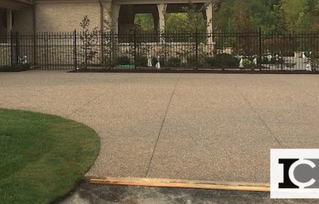 Impressive Concrete Portfolio - Concrete Driveways - 004 - Exposed Aggregate Concrete Driveway, One Color