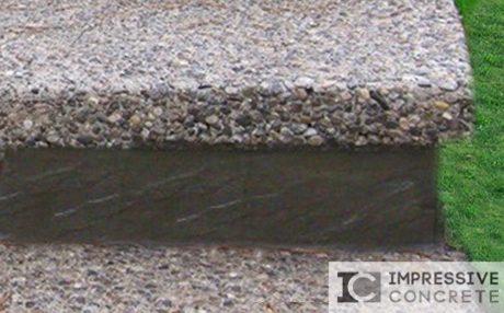 Impressive Concrete - Concrete Bullnose - 001 - Exposed Aggregate Concrete, Square Bullnose