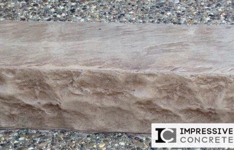 Impressive Concrete - Concrete Bullnose - 002 - Stamped Concrete, Chisel Face Bullnose