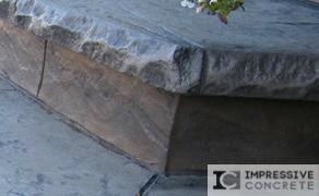 Impressive Concrete - Concrete Bullnose - 004 - Stamped Concrete, Chisel Bullnose